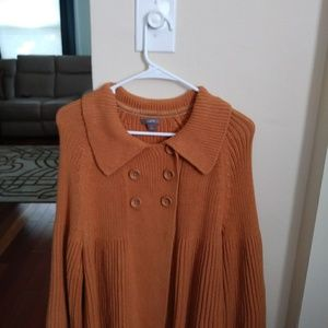 Apt 9 Mustard Sweater with Bell Sleeves Size Large
